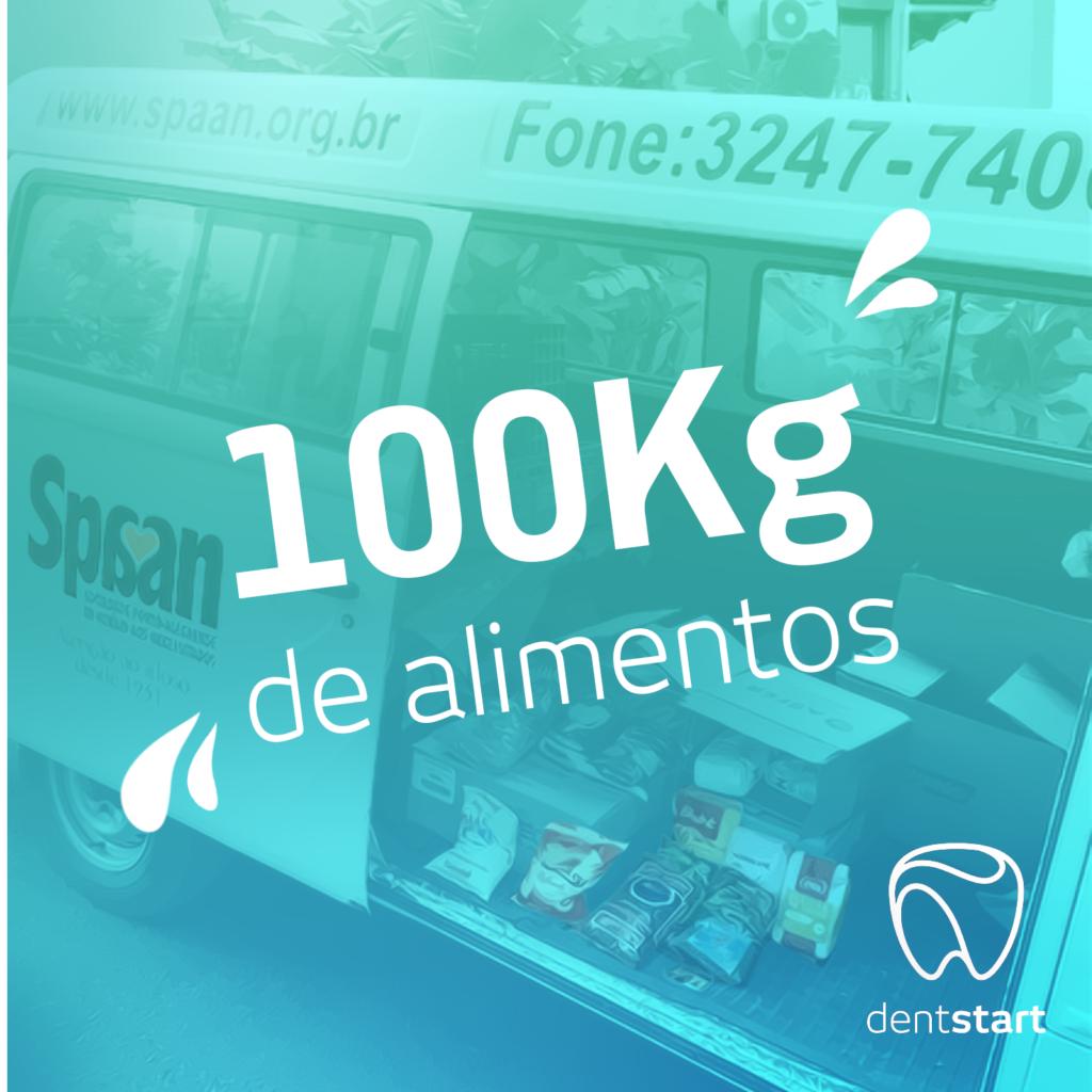 Palestra Dentstart na ABO RS arrecada 100kg de alimentos para SPAAN.
